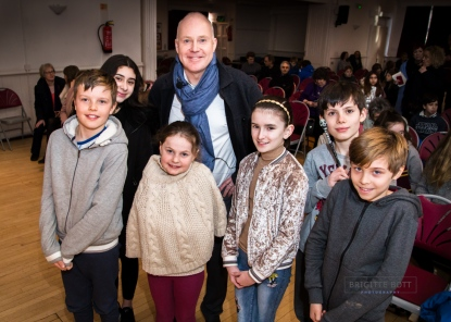 David Yates and the winners of the Young Film Makers Competition