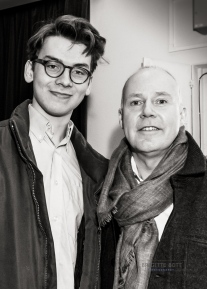 David Yates and the winner of the Young Film Makers Competition
