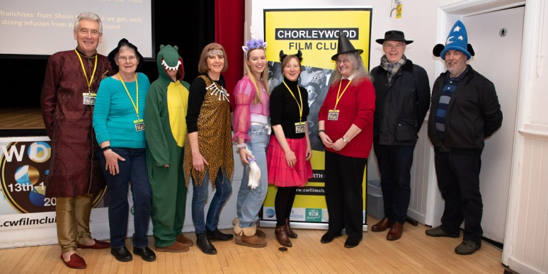 the film club committee dressed up for the family film and fancy dress parade